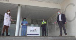 El President del CAT ha entregat les mascaretes a l'Hospital Verge de la Cinta de Tortosa